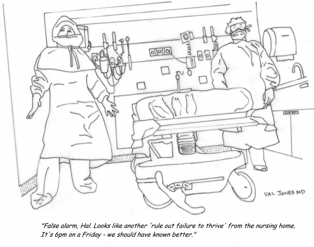 1024x806 Cartoon A Typical Friday Night In The Emergency Department