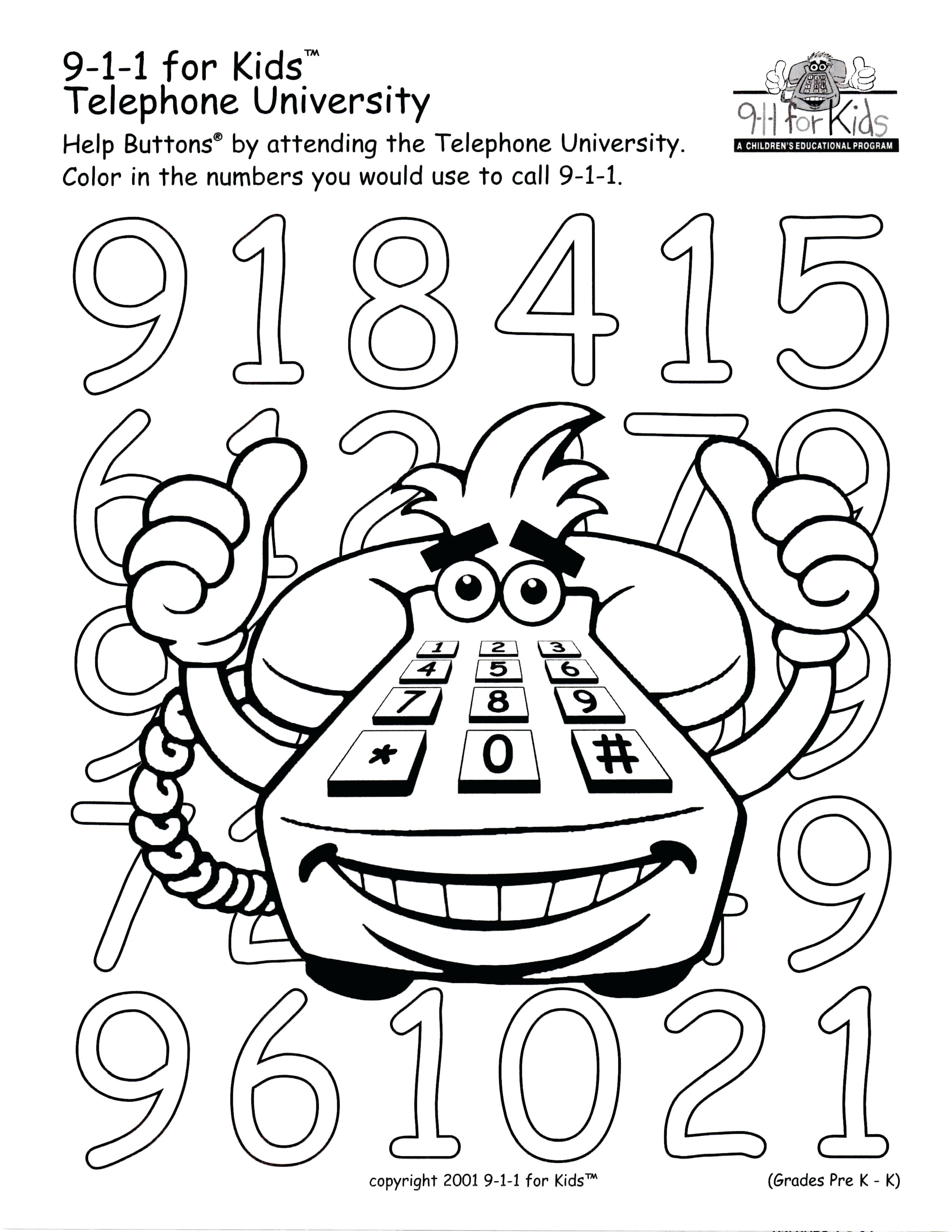 call 911 coloring pages - photo#28
