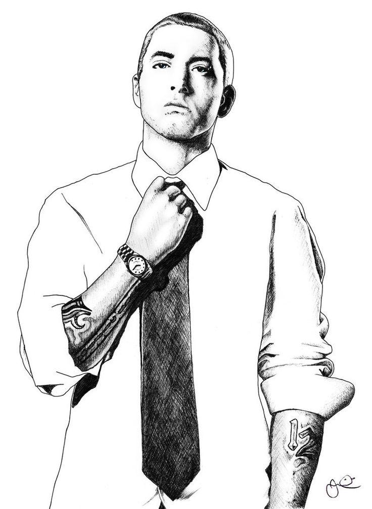 Eminem Cartoon Drawing