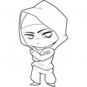 302x302 How To Draw Chibi Eminem Step 6 Desenhar Eminem