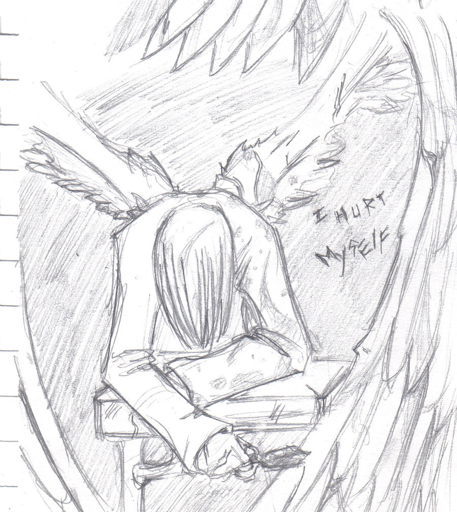 900x1007 Emo Angel By Crashlegacy