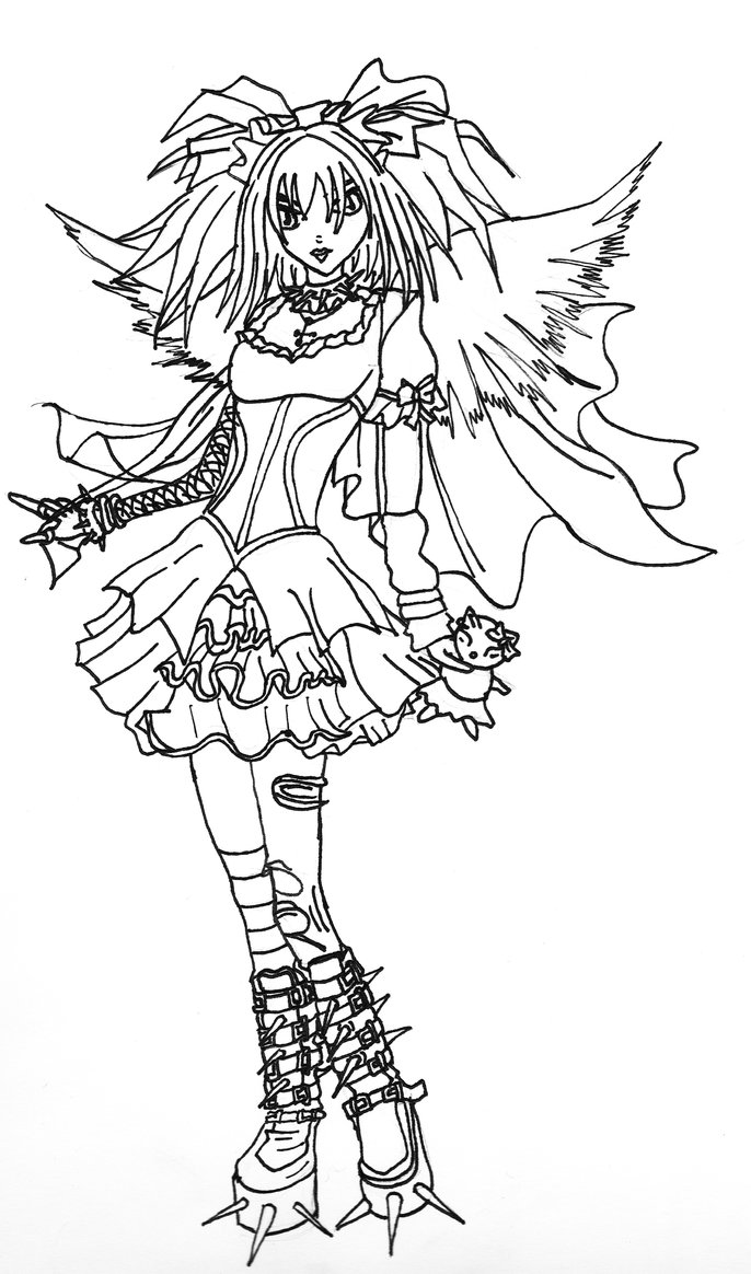 Emo Angel Drawing at GetDrawings.com | Free for personal use Emo ...