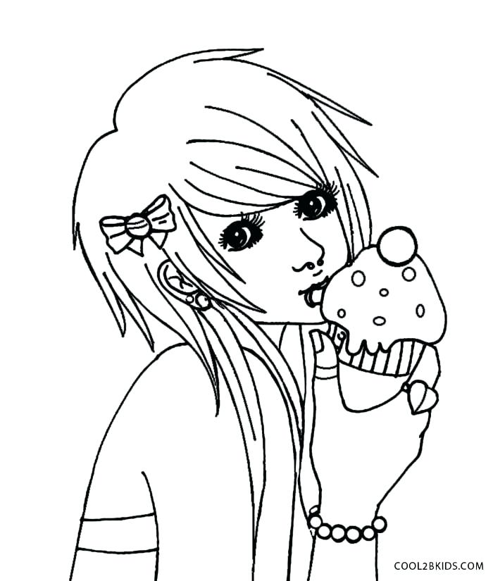 700x825 Cute Anime Coloring Pages To Print Emo Anime Coloring Pages Cute