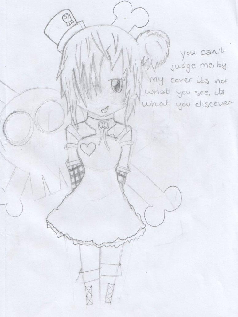 775x1031 Emo Girl Anime Drawing By Pikamattchu