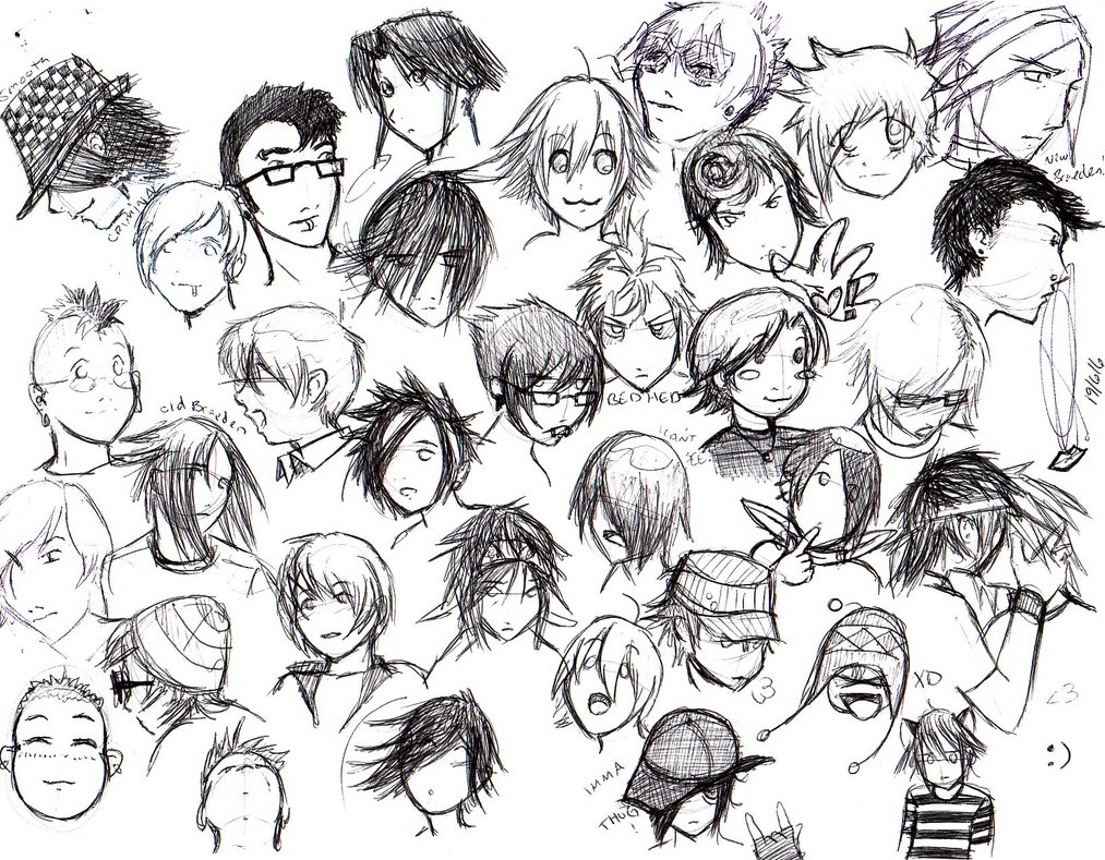 1013x789 A Page Of Emo Boys By Pyrogina