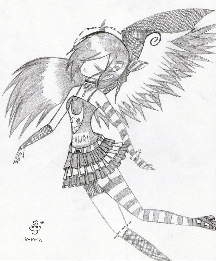 900x1083 Emo Angel 2 By Jenibearx3