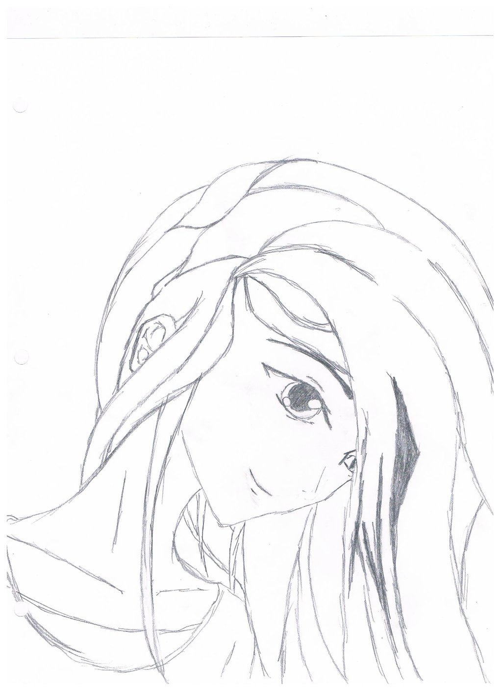 1024x1408 Anime Girl Sketch 2 By The Emo Chick