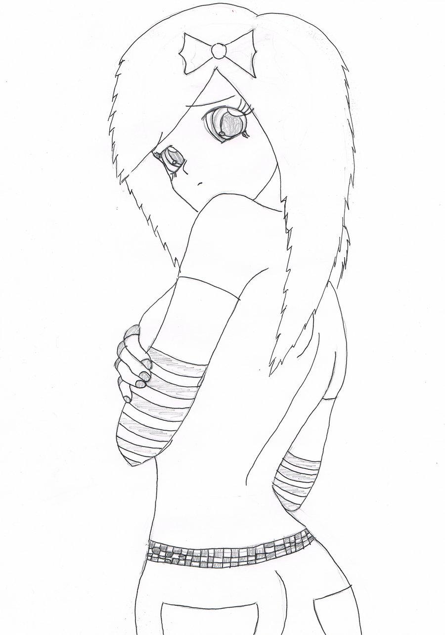900x1284 Anime Emo Girl By Sannyvampire