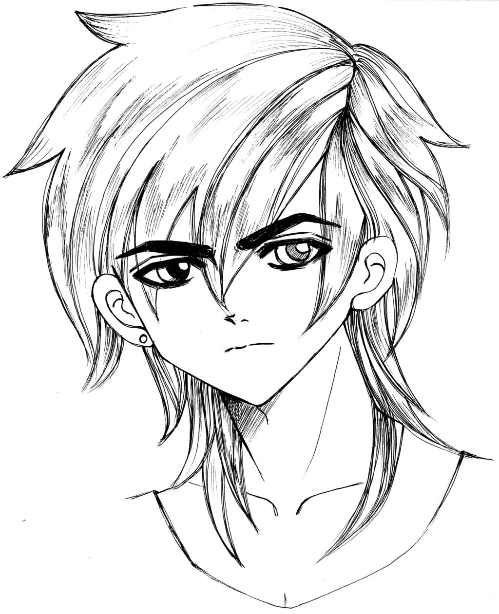 1024x1261 Handsome Boy Art Of Drawing Emo Boy Stock Illustration