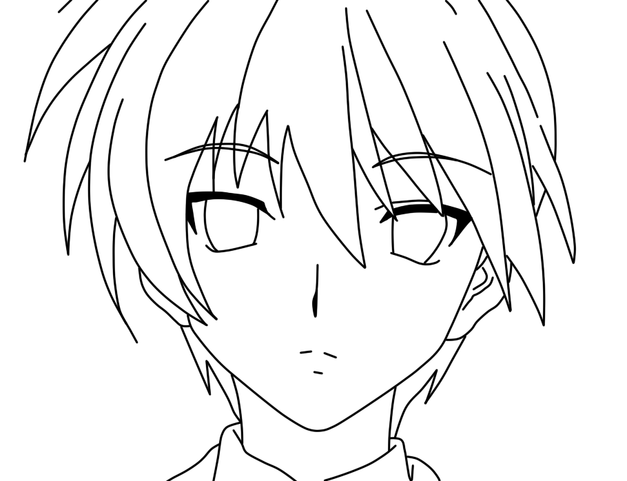 910x698 Lonely Anime Boy Coloring Pages Gothic Anime Coloring Pages