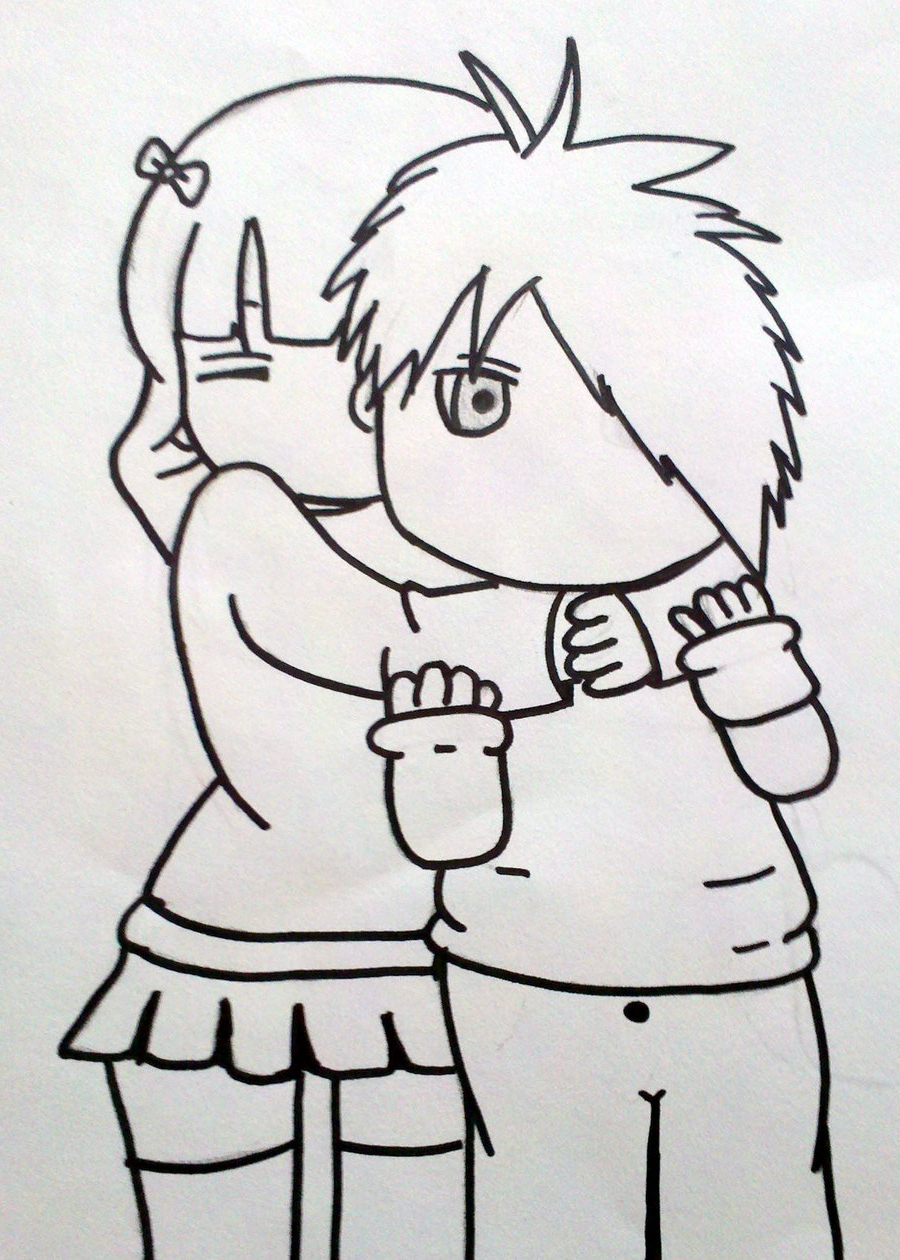 900x1260 Boy And Girl Love Images For Drawing Emo Boy And Girl Love By