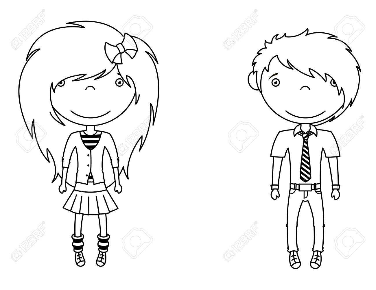 1300x1003 Cute Trendy Emo Boy Girl Royalty Free Cliparts, Vectors,