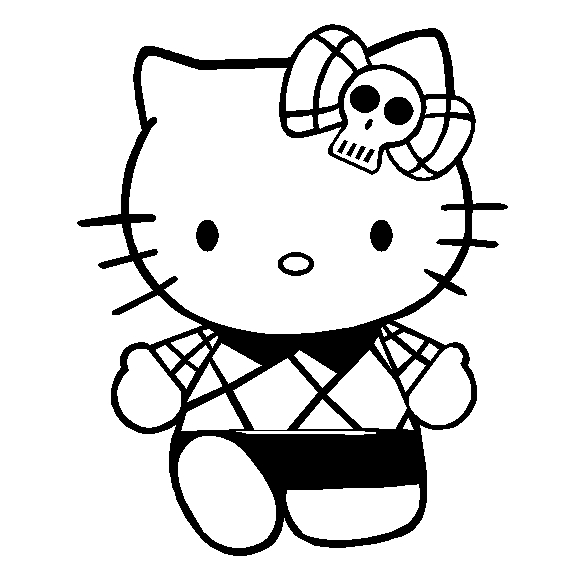 578x565 Hello Kitty To Color Emo Hello Kitty Coloring Pages Coloring