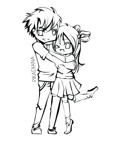 477x600 Anime Wolf Couples Coloring Pages Marvellous Couple Girl Wearing