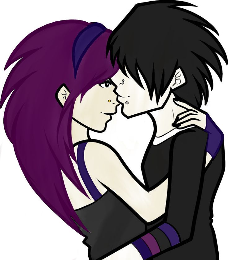 Emo Couple Drawing