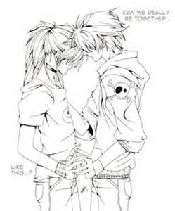 249x300 Anime Couples Coloring Pages For Adults Emo Anime Girls Coloring
