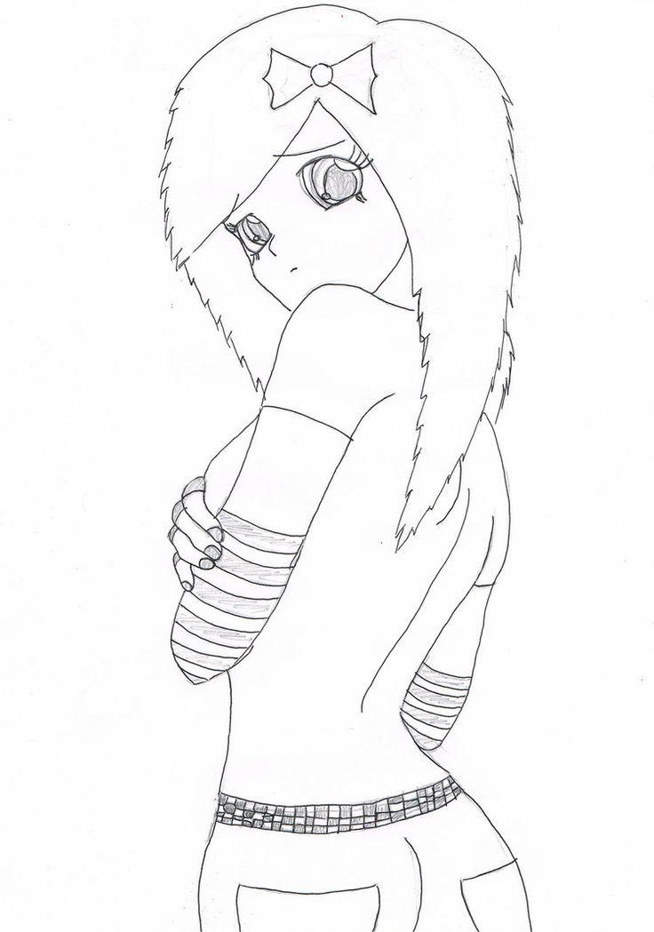 736x1049 Drawn Anime Emo