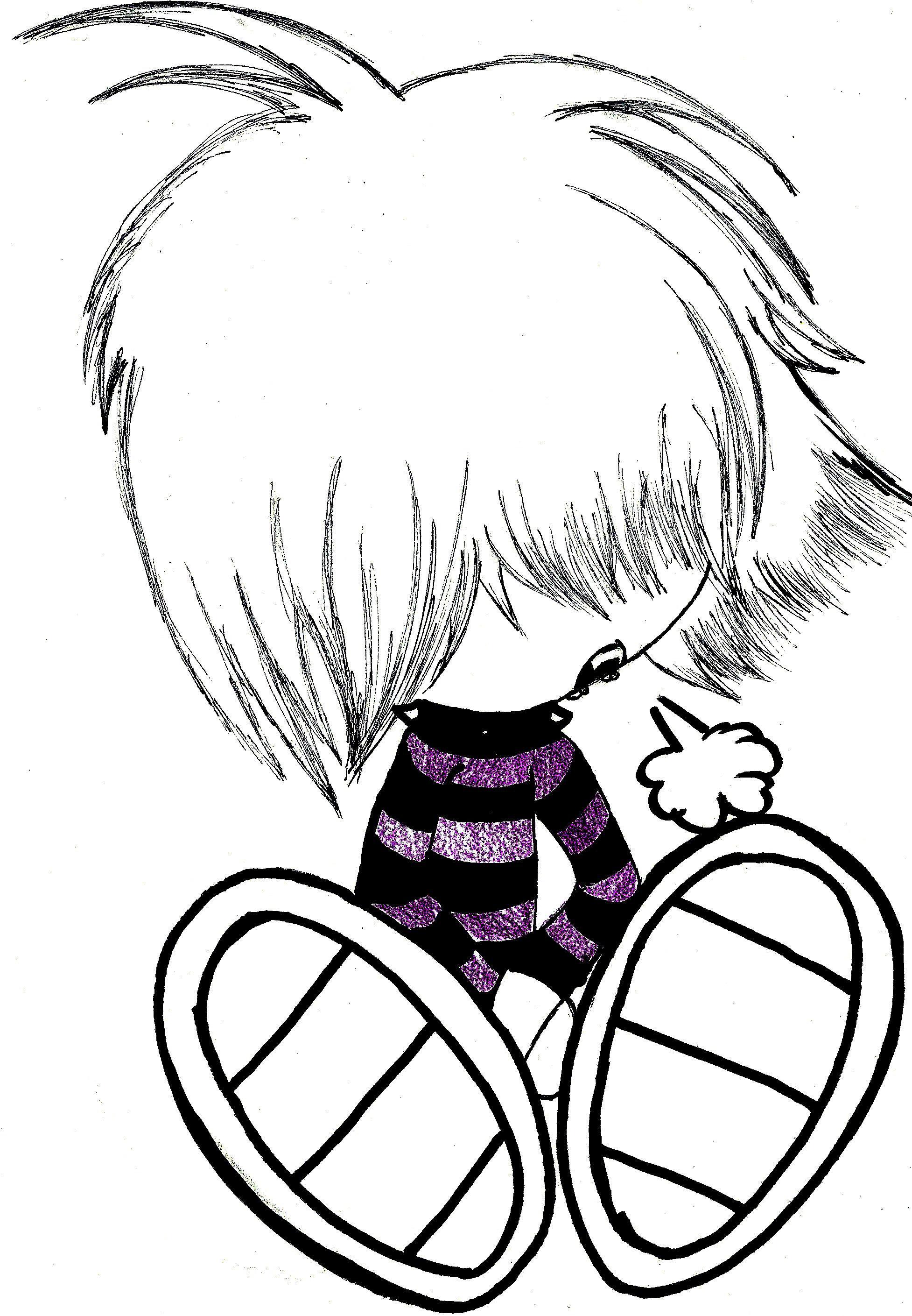 1954x2818 Emo Cartoon Drawings How To Draw A Cartoon Emo, Stepstep, Cartoons