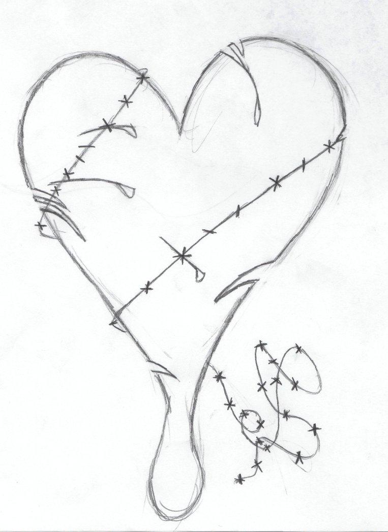 763x1047 Emo Drawings Of Broken Hearts In Pencil Easy Pencil Drawings