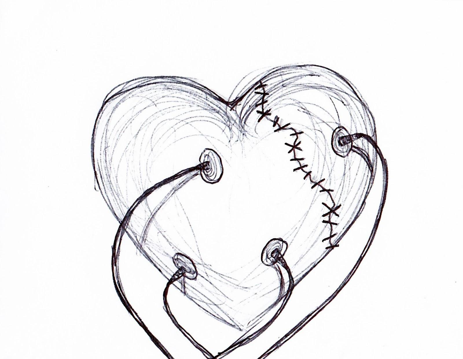 1600x1241 Emo Drawings Step By Step Emo Drawings Of Broken Hearts In Pencil