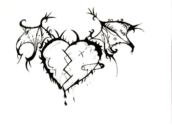 604x439 Emo Heart Drawings Emo Heart Drawing Http13nemo131.