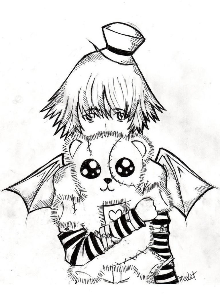 768x1024 Emo Anime Coloring Pages 19 Animemangadrawings Emo