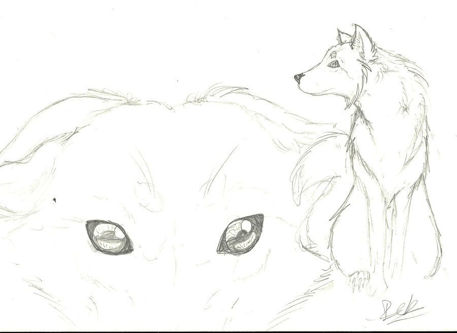900x656 Second Old Drawing A Wolf By Emo Wolfyes