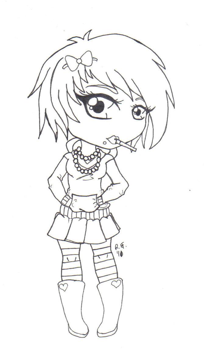 670x1193 Emo Girl By Gangstacakes