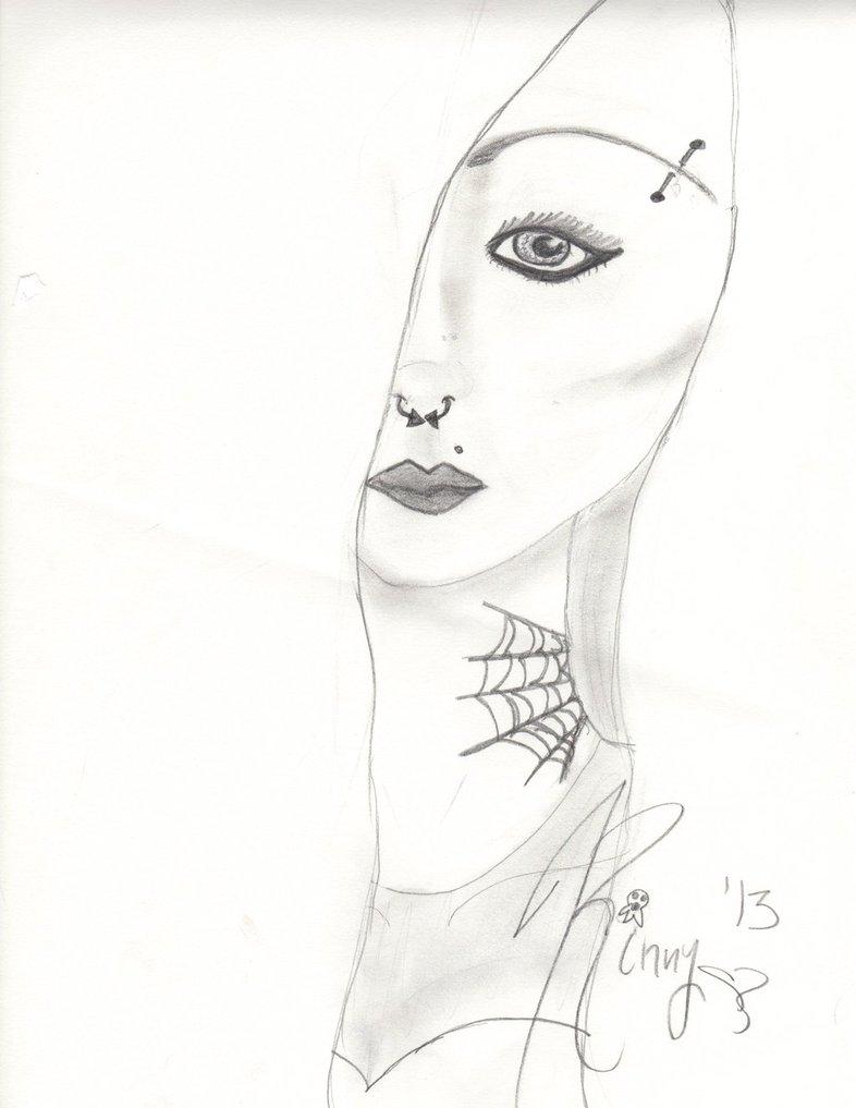 786x1017 Emo Girl By Mermaidcrayons