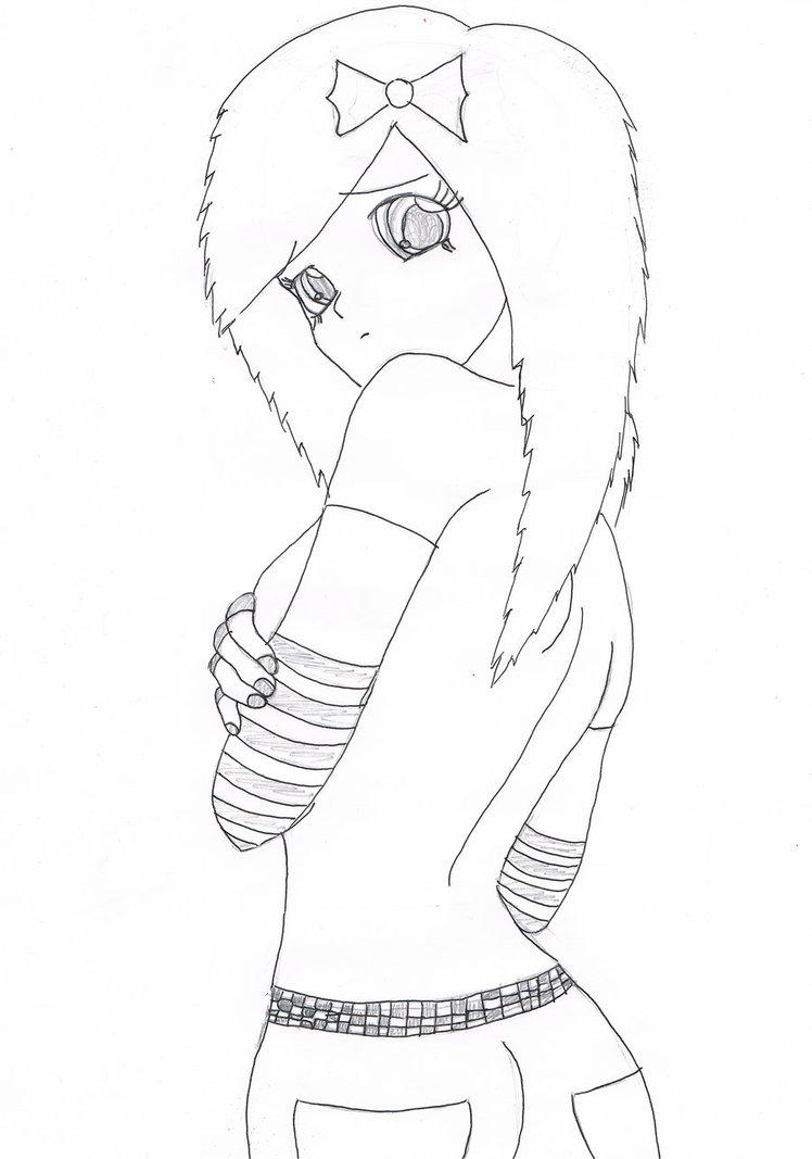 748x1067 Anime Emo Girl Drawing Anime Emo Girlsannyvampire