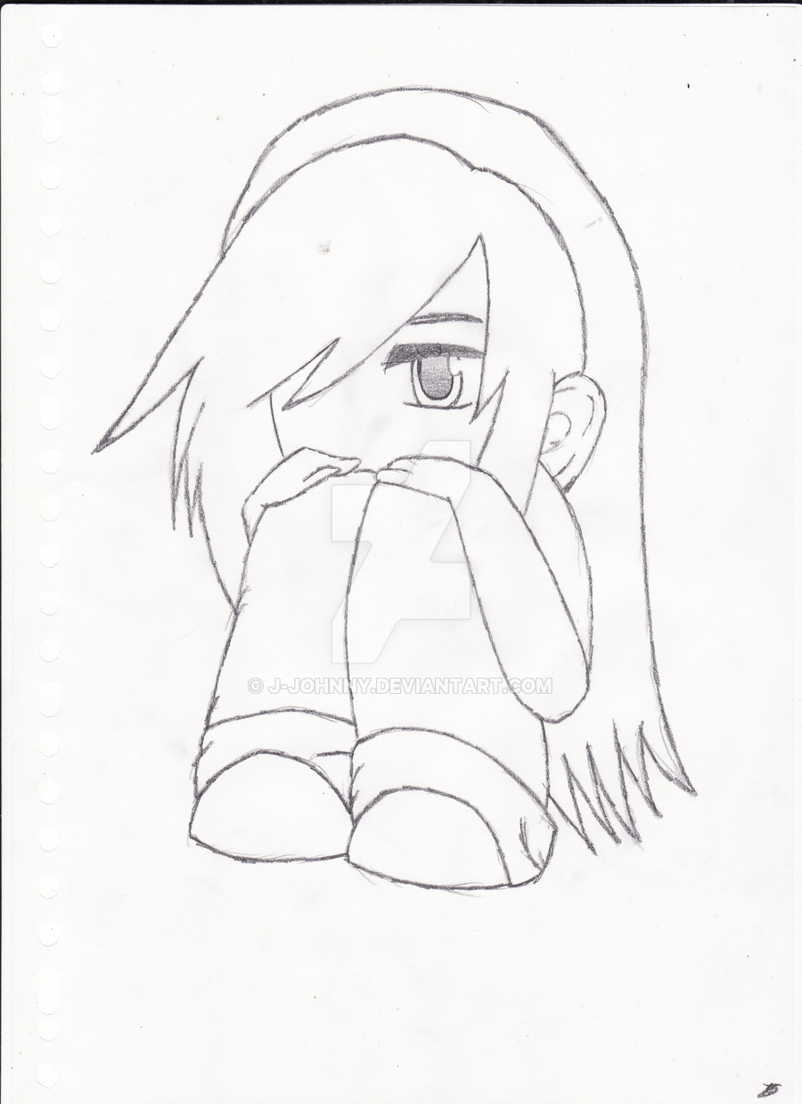 900x1238 Little Chibi Emo Girl By J Johnny