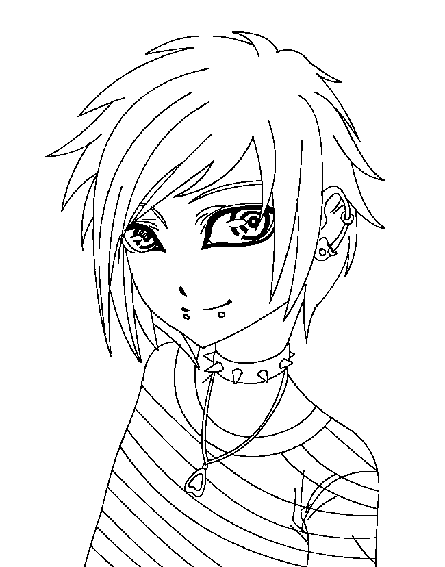 650x828 Printable Emo Coloring Pages Coloring Me