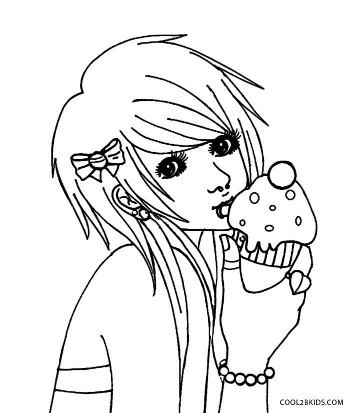 700x825 Emo Girl Coloring Pages Coloring Page For Kids
