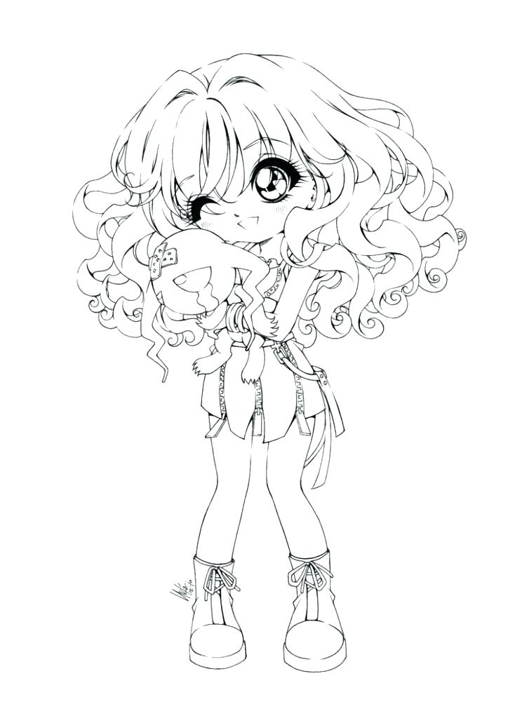 734x1024 Beautiful Emo Girl Coloring Pages Fee Printable Funny Cute