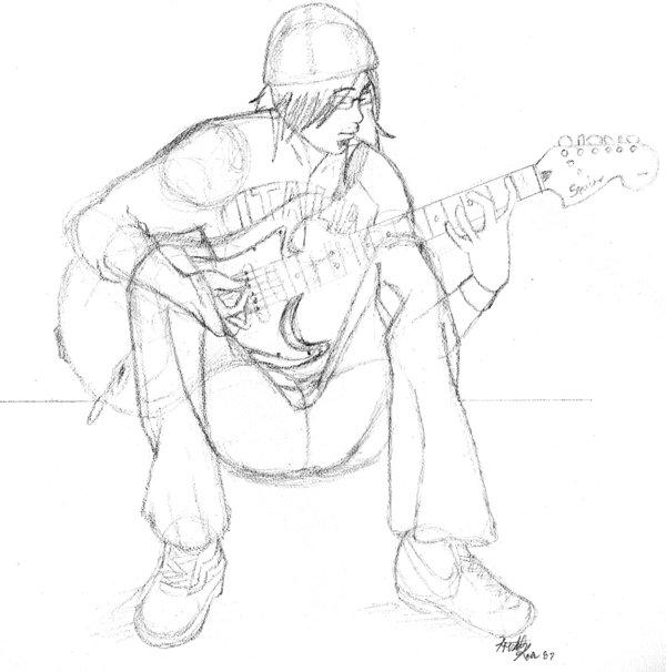 600x606 Emo Guy Sketch By Xxxkrisskrossxxx