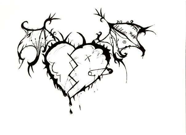 604x439 Drawn Hearts Emo