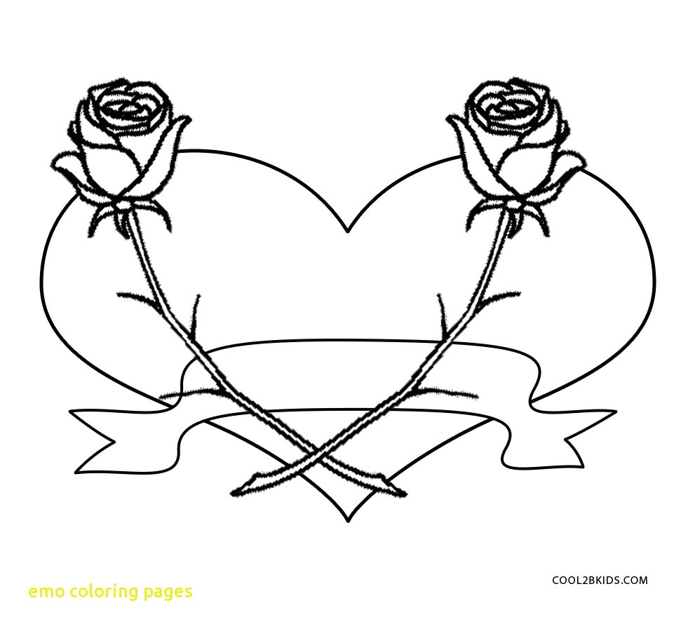 971x900 Emo Coloring Pages