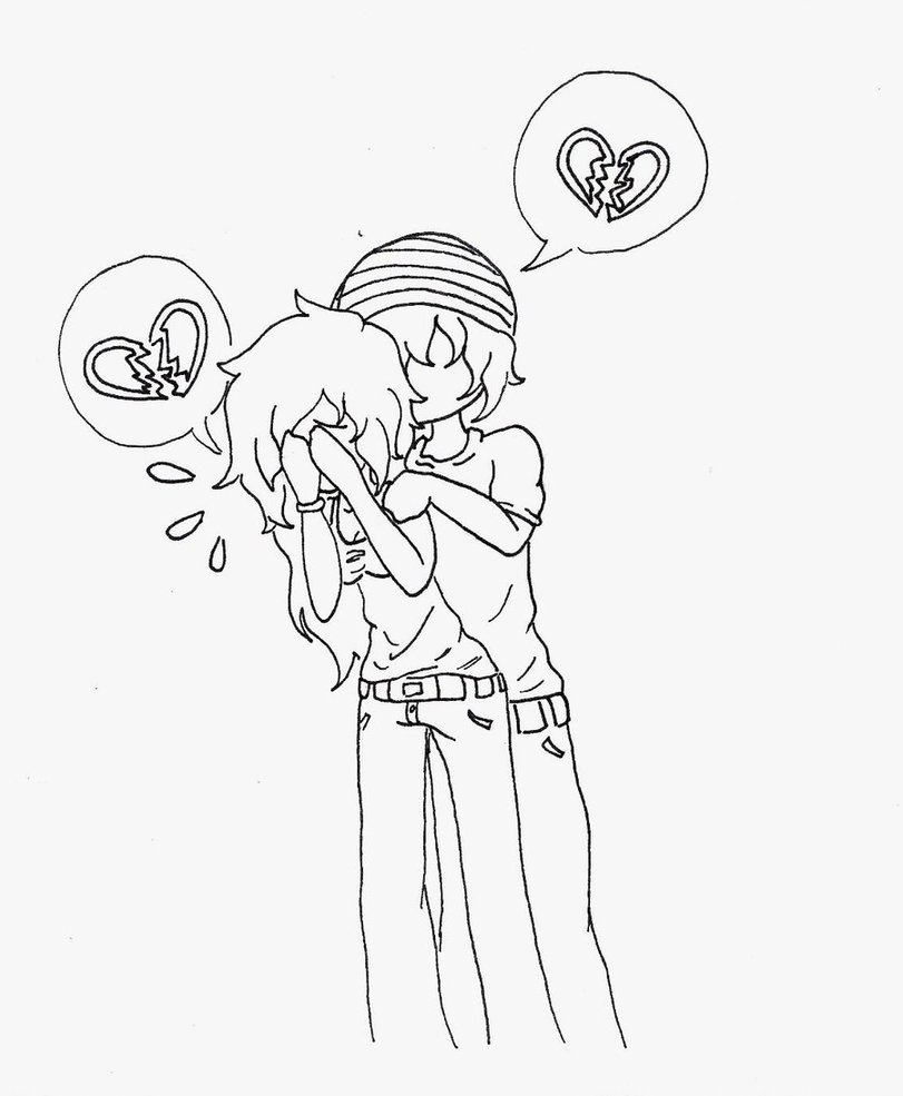 811x985 Emo Heart Drawings Emo Heart Drawings Emotion Httpwww.pic2fly