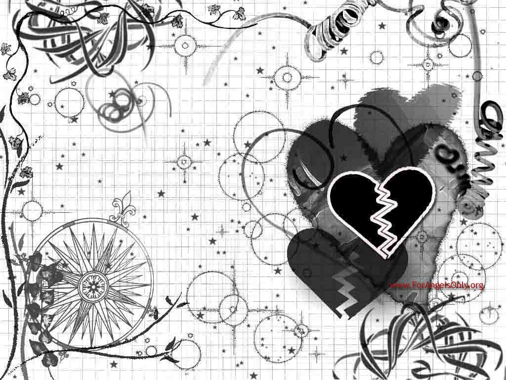 1024x768 Emo Heart Wallpaper