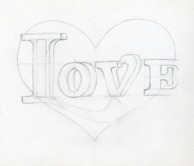 800x683 Learn To Draw A Heart. Very Inspiring.