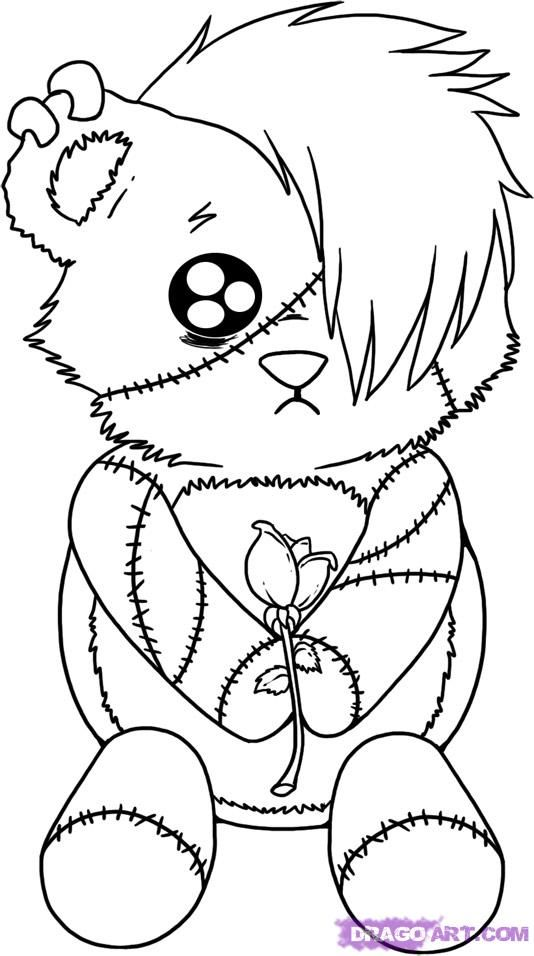 534x956 Enchanting Emo Coloring Pages 75 With Additional Line Drawings