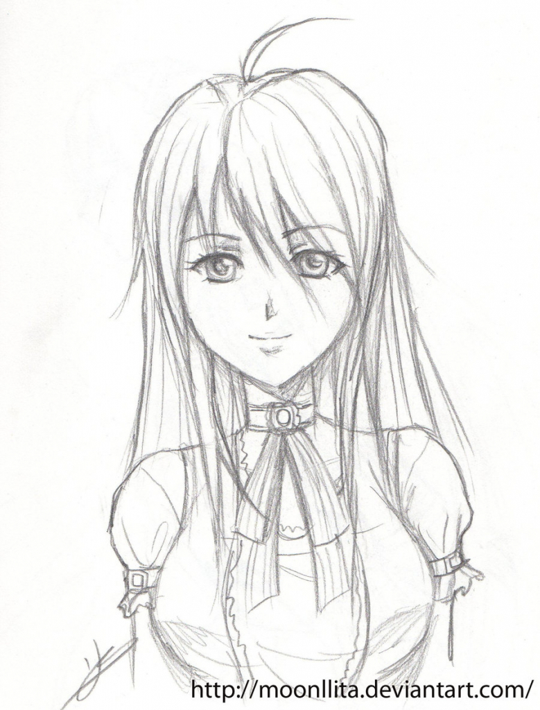 779x1024 Anime Girl Drawings In Pencil Anime Girl Drawing Pencil