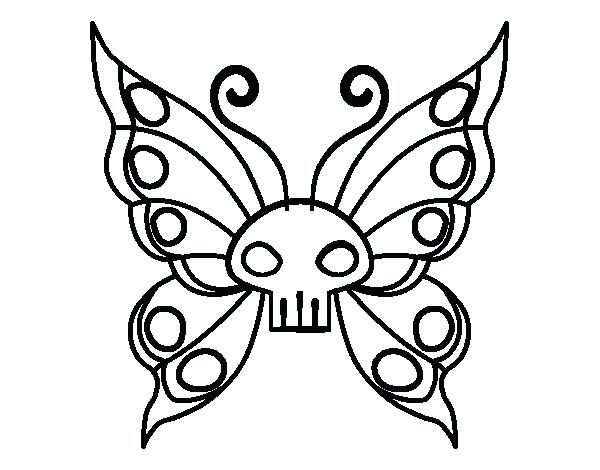 600x470 Emo Coloring Pages Emo Butterfly Coloring Page Emo Love Coloring