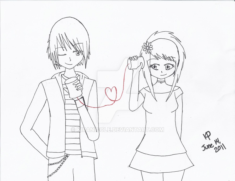 900x694 Emo Love Line Art By Kiranicole