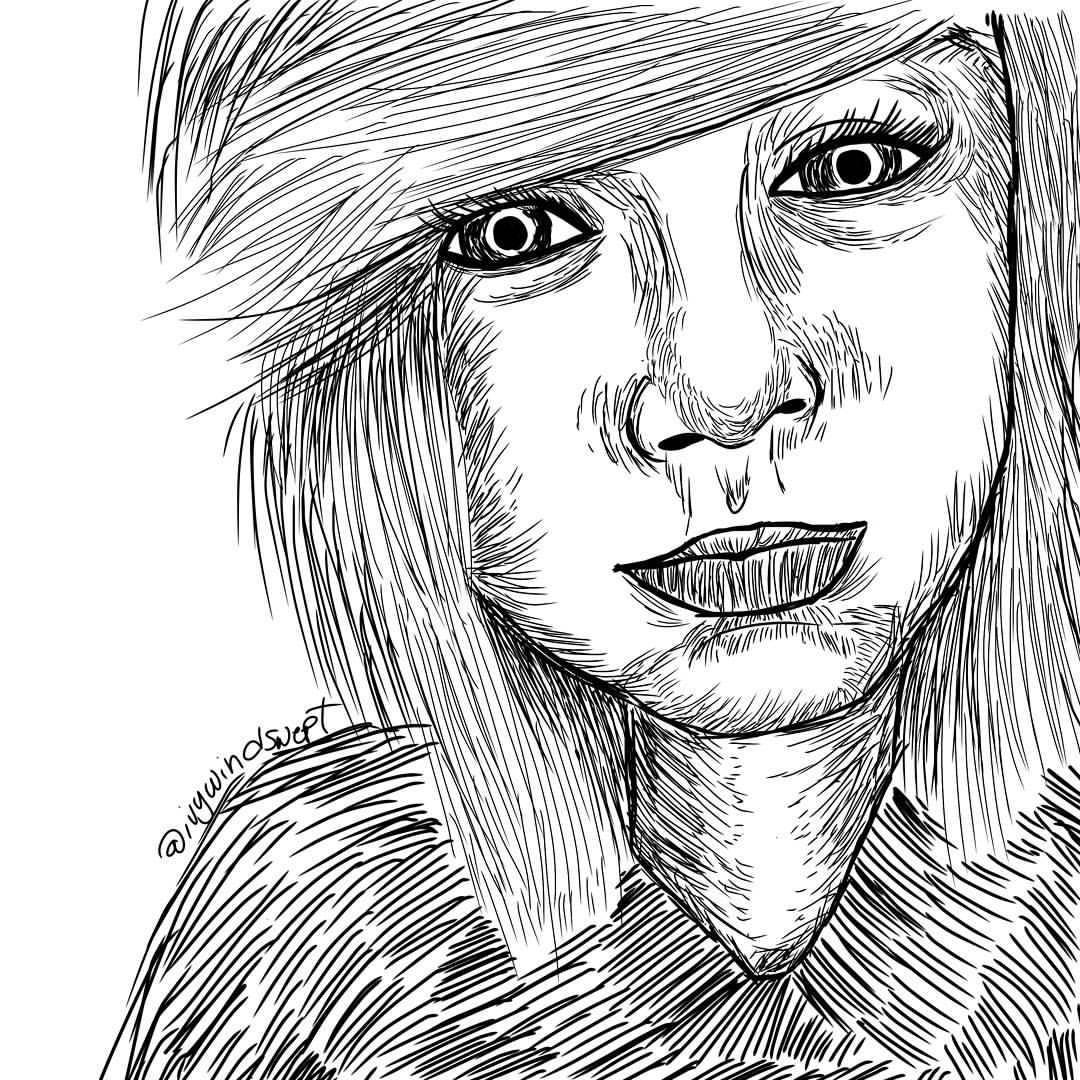 1080x1080 Drawn Emo Beany