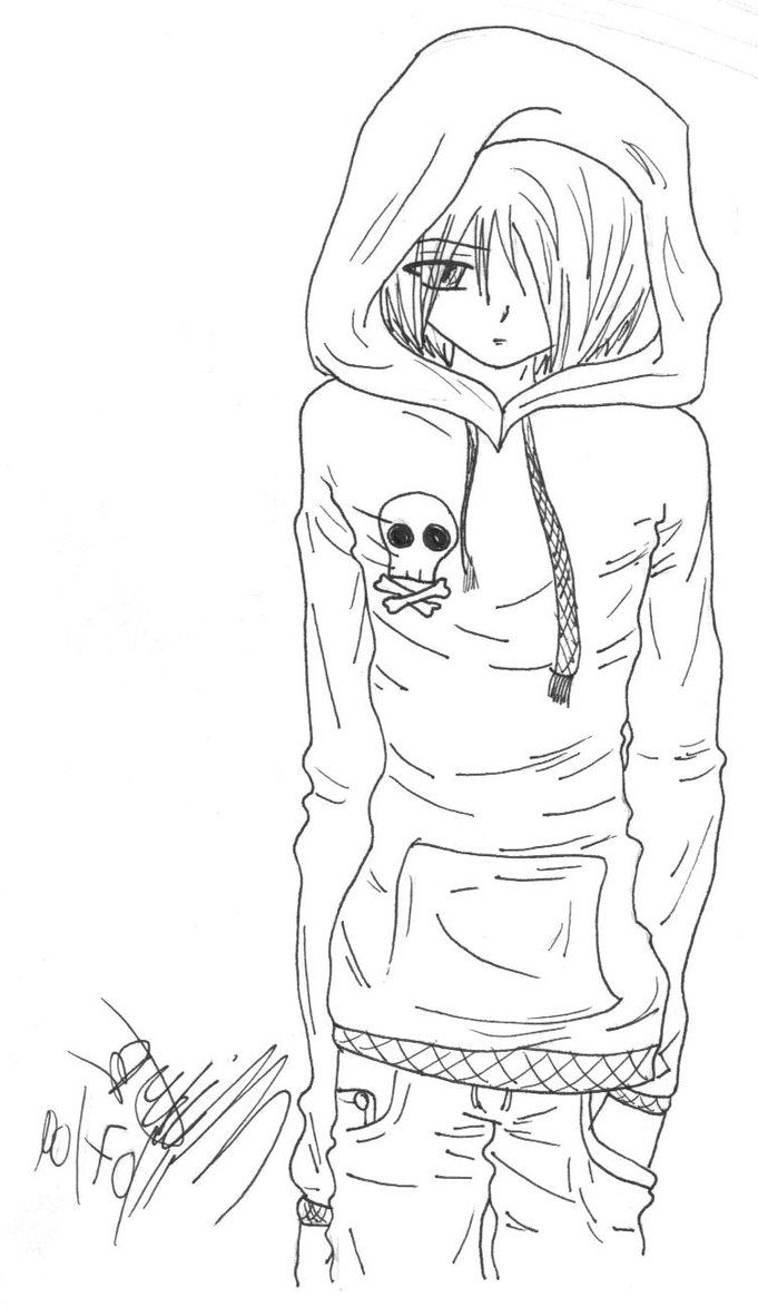 681x1174 Emo Anime Girl With Headphones Drawings 77 Best Anime Images