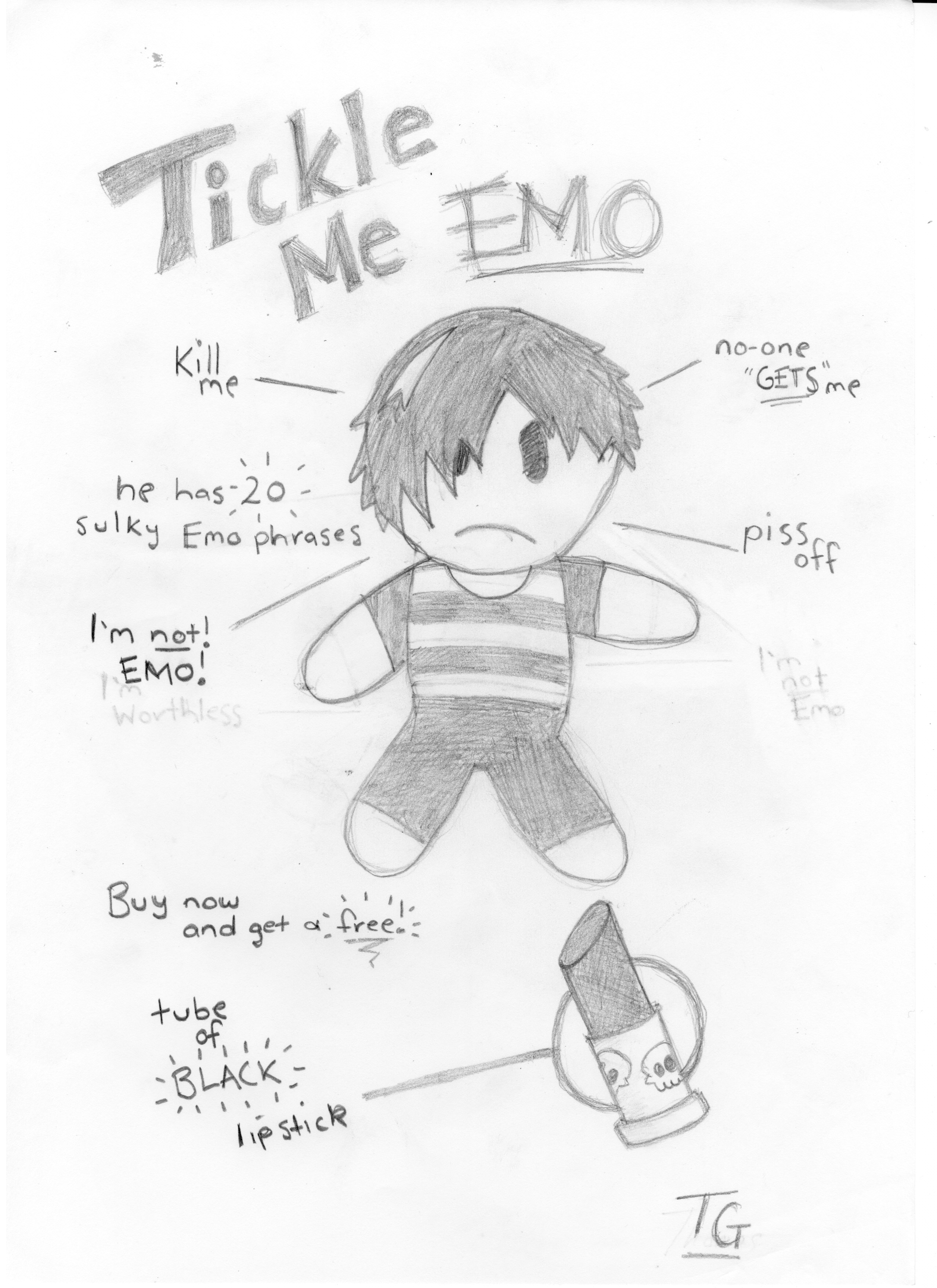 2552x3508 Tickle Me Emo By Gothpuncher