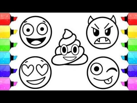 480x360 Emoji Coloring Pages How To Draw And Color Emoji Faces
