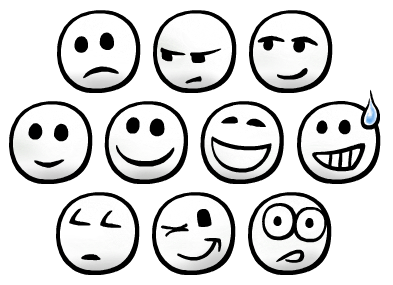 393x285 Drawn Smileys Emotion
