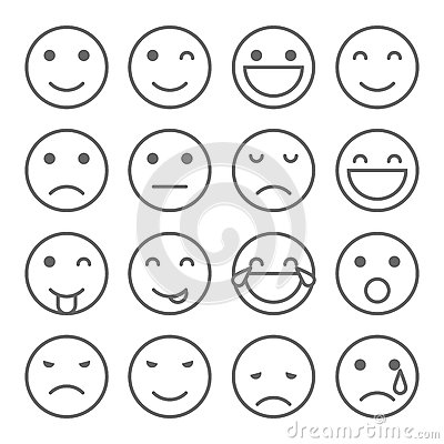 400x400 Emoji Faces Simple Icons Set Emoticons Illustrations 69480677.jpg